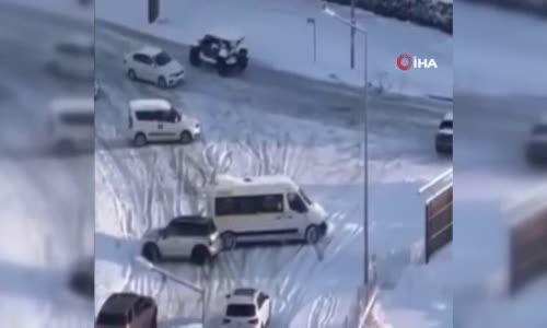 Bursa'da yollar buz pistine döndü, kazalar peşpeşe böyle yaşandı