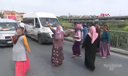 Başakşehir'de Kadınlar Yol Kapattı