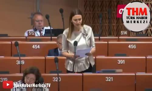 Azeri vekil Ganire Pashayeva'dan Avrupa Konseyi'nde Tokat Gibi Cevap