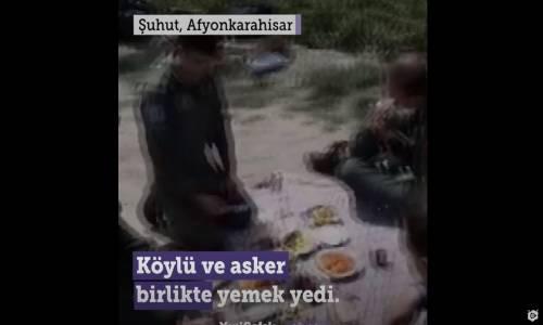 Acil İniş Yapan Mehmetçik'e Köylüler Kucak Açtı