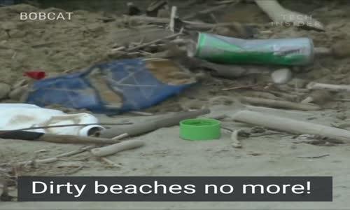 Bu cihaz ile plajlar tertemiz olacak