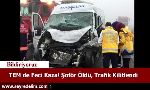 TEM'de Feci Kaza! Şoför Öldü, Trafik Kilitlendi