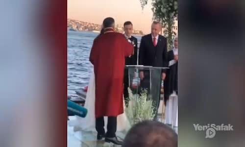 Cumhurbaşkanı Erdoğan Mesut Özilin Nikah Şahidi Oldu