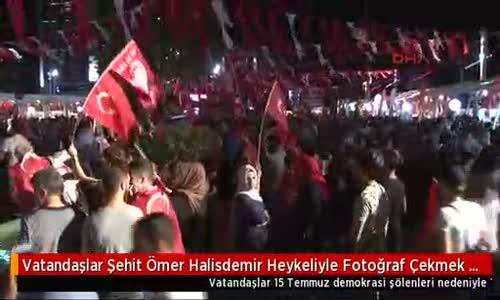 Binlerce vatandaş Şehit Halisdemir için kuyruğa girdi