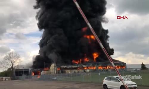 Havaalanı Yakınında Korkutan Yangın