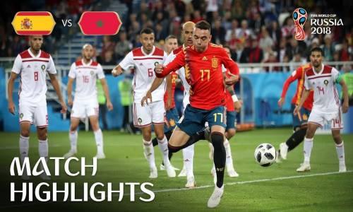 İspanya 2 - 2 Fas - 2018 Dünya Kupası Maç Özeti