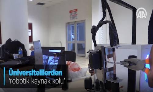Üniversitelilerden Robotik Kaynak Kolu