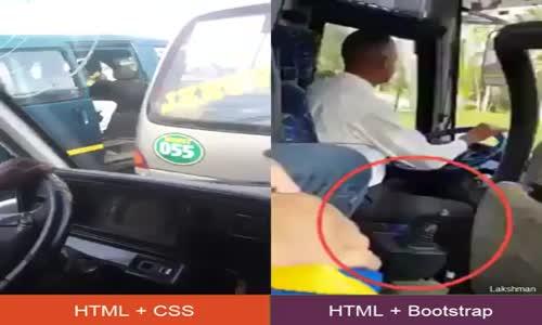 HTML+  CSS  Vs  HTML + Bootstrap