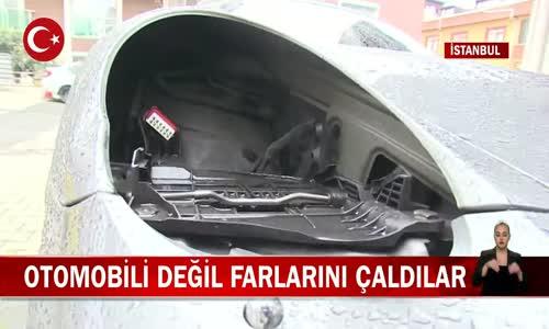 İstanbul Ataşehir'de Lüks Bir Aracın 36 Bin Lira Değerindeki Farları Çalındı! İşte Görüntüler