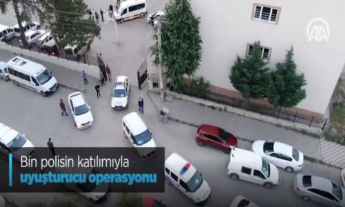 Bin Polisin Katılımıyla Uyuşturucu Operasyonu