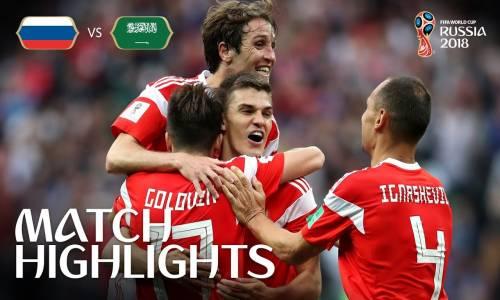 Rusya 5 - 0 Suudi Arabistan 2018 Dünya Kupası Maç Özeti