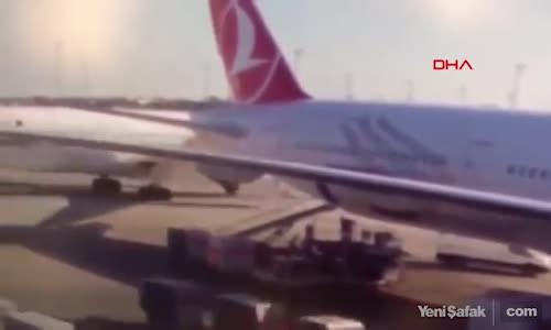 Atatürk Havalimanı'ndaki Uçak Kazası Kamerada