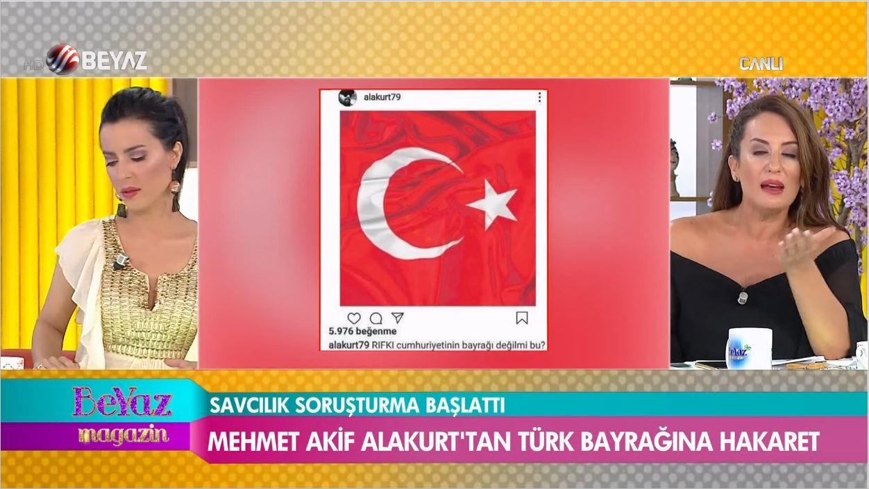 Mehmet Akif Alakurt'tan Türk Bayrağına Ağır Hakaret