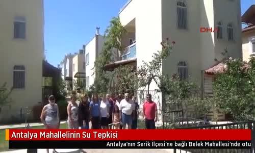 Antalya Mahallelinin Su Tepkisi