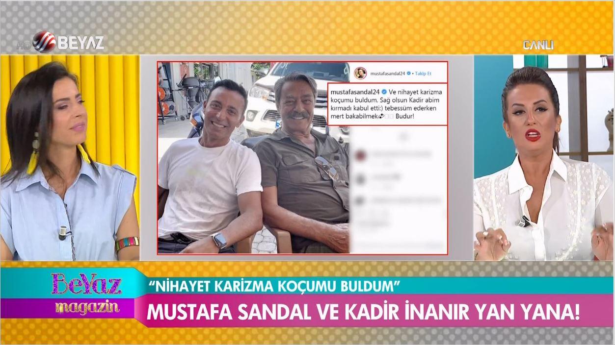 Kadir İnanır İle Mustafa Sandal'dan Sürpriz Buluşma