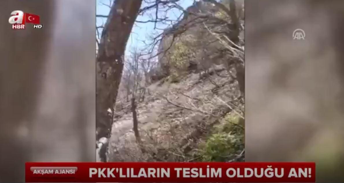 PKK'lıların Teslim Olduğu An