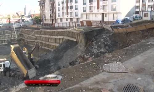 Esenyurt'ta Meydana Gelen Toprak Kaymasında 20 Bina Hasar Gördü