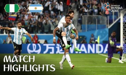 Nijerya 1 -  2 Arjantin - 2018 Dünya Kupası Maç Özeti