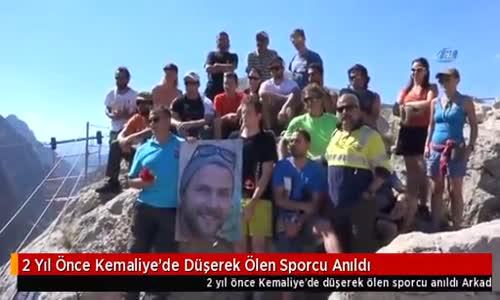 2 Yıl Önce Kemaliye'de Düşerek Ölen Sporcu Anıldı