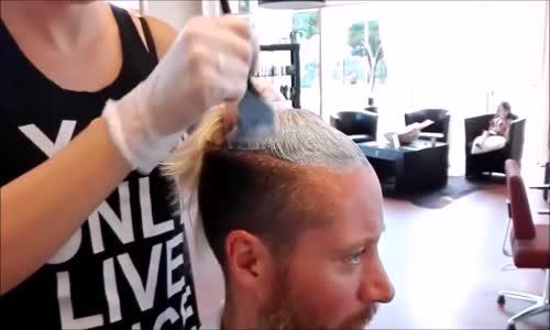 Erkek Saç Kesimi  & Saç Boyama