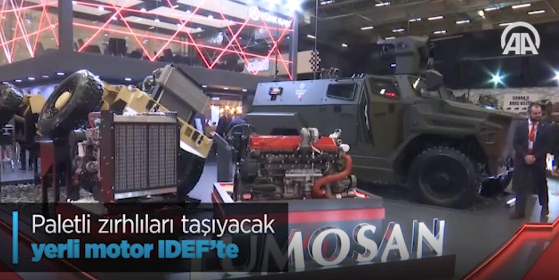 Paletli Zırhlıları Taşıyacak Yerli Motor IDEF'te