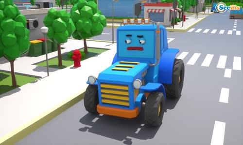 Cars Town - Traktör Polis Ve Canavar Kamyon Çörek Peşinde