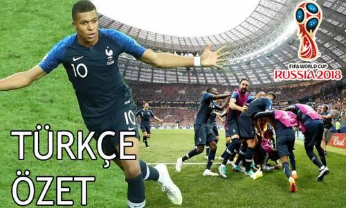 Fransa 4 - 2 Hırvatistan 2018 Dünya Kupası Maç Özeti