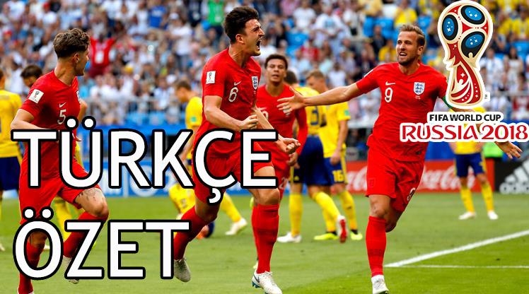 İsveç 0 - 2 İngiltere 2018 Dünya Kupası Maç Özeti