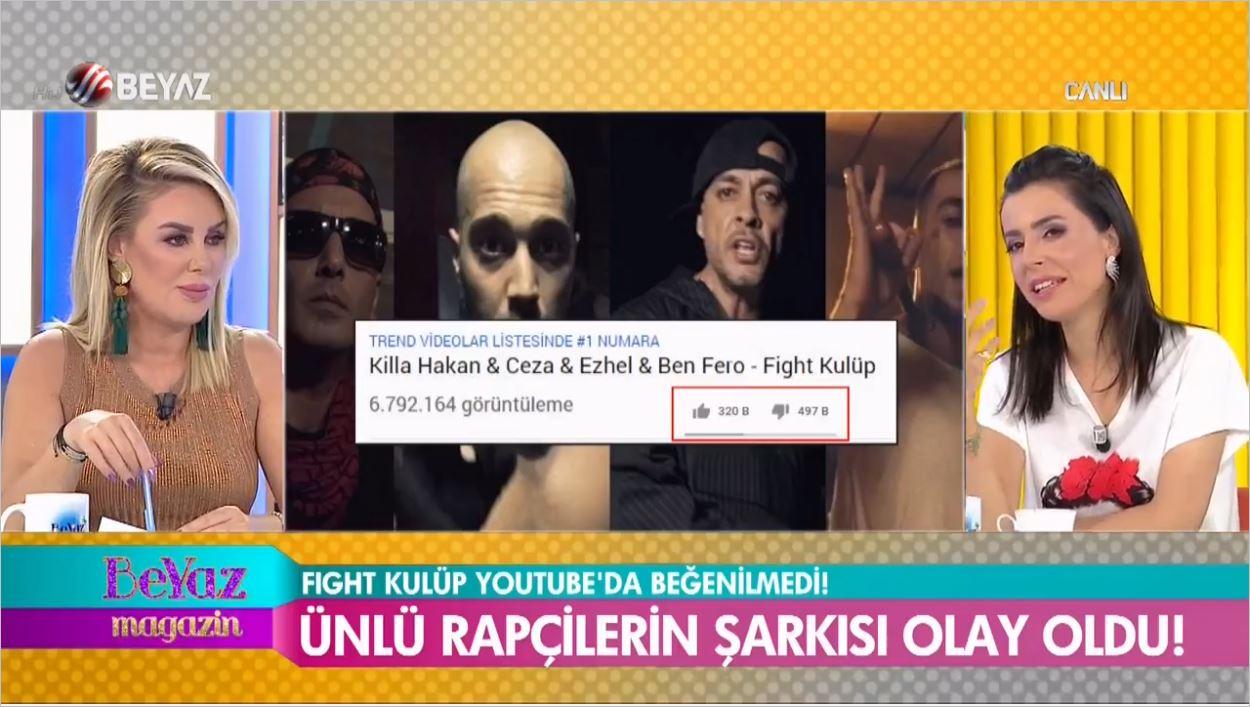 Killa Hakan Ceza Ezhel Ve Ben Fero'nun Fight Kulüp Klibi Beğenilmeme Rekoru Kırdı