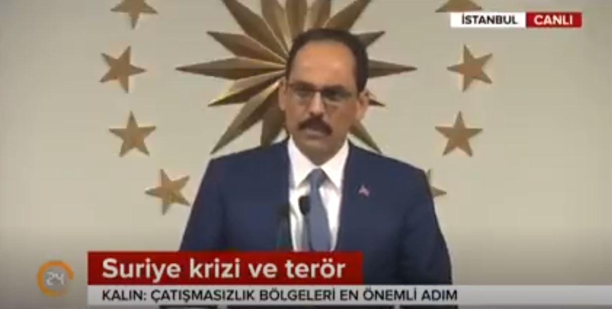 Kalın Afrin'den Terör Tehdidi Gelirse Türkiye Misliyle Karşılık Verecek