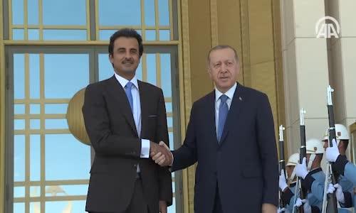 Cumhurbaşkanı Erdoğan Katar Emiri Al Sani İle Bir Araya Geldi