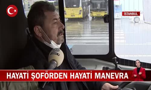 Halk Otobüsü Şoföründen Hayati Manevra! İşte Görüntüler