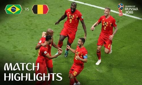 Brezilya 1 - 2 Belçika - 2018 Dünya Kupası Maç Özeti