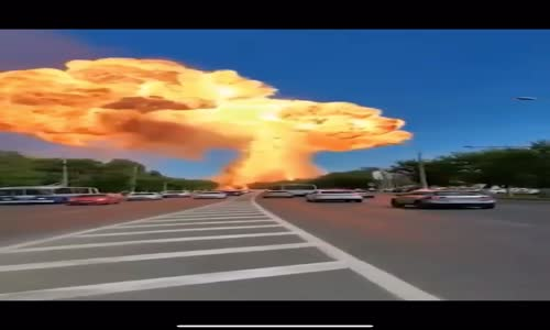 Rusya'da meydana gelen akaryakıt patlaması