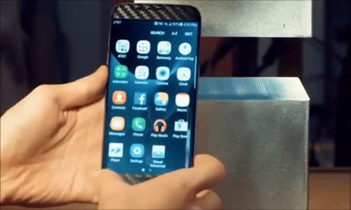 400 Tonluk Pres Makinesi İle Samsung S7 Edge Presleniyor ! Test