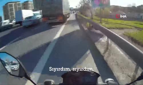 TEM'de Motosikletlinin Başına Gelmeyen Kalmadı