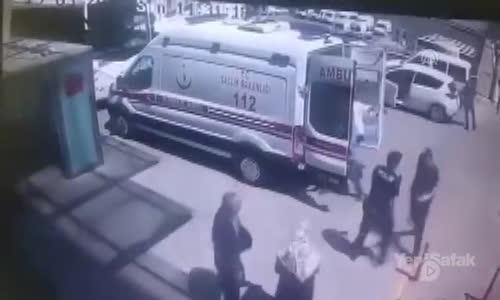 Hastane Önünde Silahlı Saldırı Kamerada
