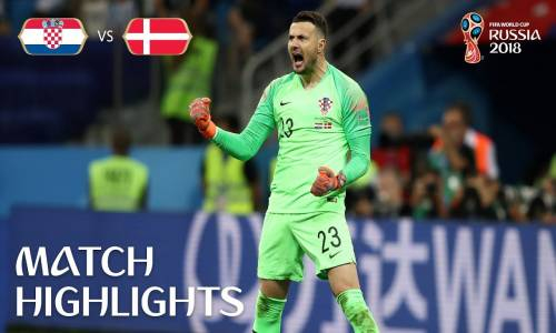 Hırvatistan 1 - 1 Danimarka - 2018 Dünya Kupası Özeti
