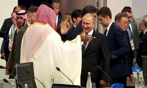 Putin ve Suudi Veliaht Prensi ile Dikkat Çeken Selamlaşma