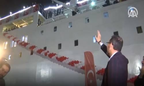 19 Mayıs 1919'un 100. Yılı - Samsun'a Gidecek Gemi Törenle Uğurlandı