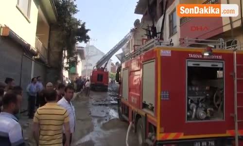 Tokat Erbaa'da Korkutan Yangın