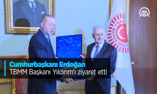 Cumhurbaşkanı Erdoğan TBMM Başkanı Yıldırım'ı Ziyaret Etti