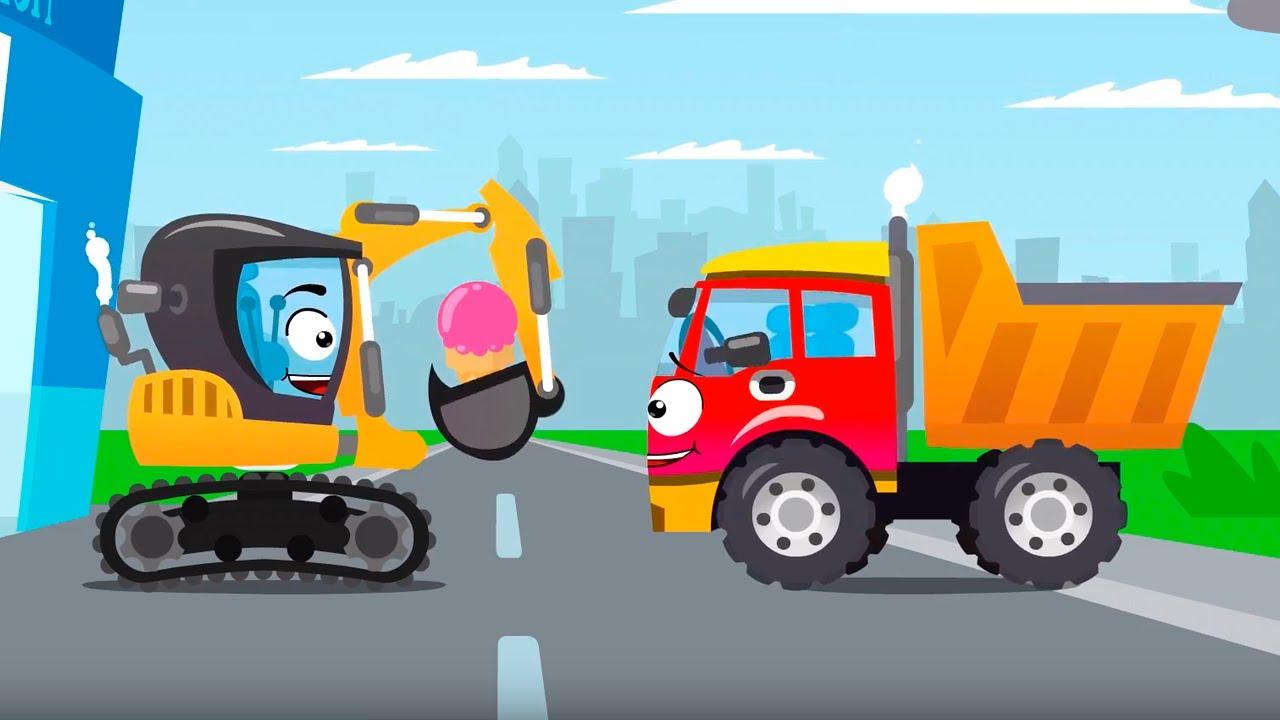 Cars Stories - Sarı Ekskavatör Oto Yıkamada