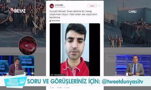 Suriyeli Gençten Sinan Oğan'a Mesaj