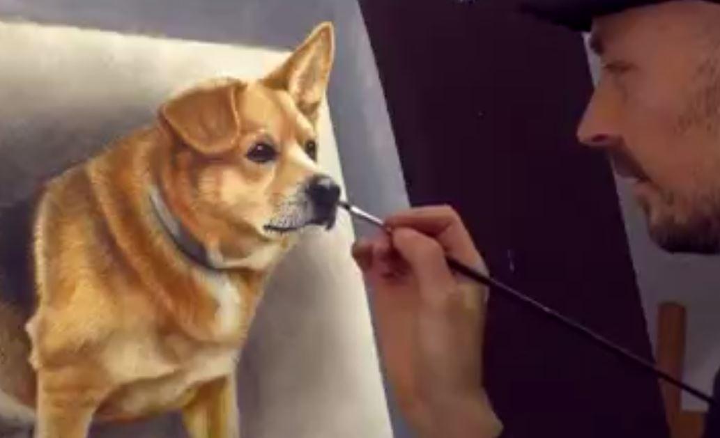 Aşırı Gerçekçi 3 Boyutlu Köpek çizimi Seyredelimcom