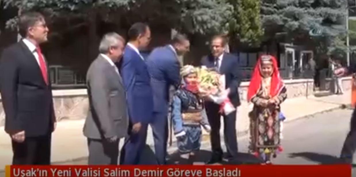 Uşak'ın Yeni Valisi Salim Demir Göreve Başladı