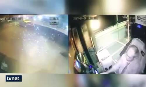 Halk Otobüsünün Önünü Kesip Şoförü Dövdüler