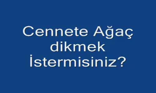 Cennette ağac dikmek - wwww.seyredelim.com