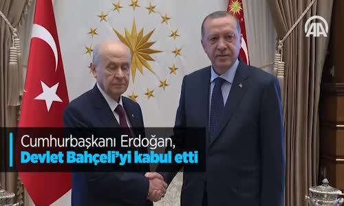 Cumhurbaşkanı Erdoğan Devlet Bahçeli'yi Kabul Etti