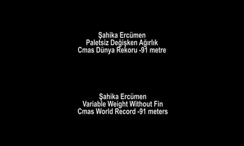 Şahika'dan Tek Nefeste Dünya Rekoru- 91 Metre!